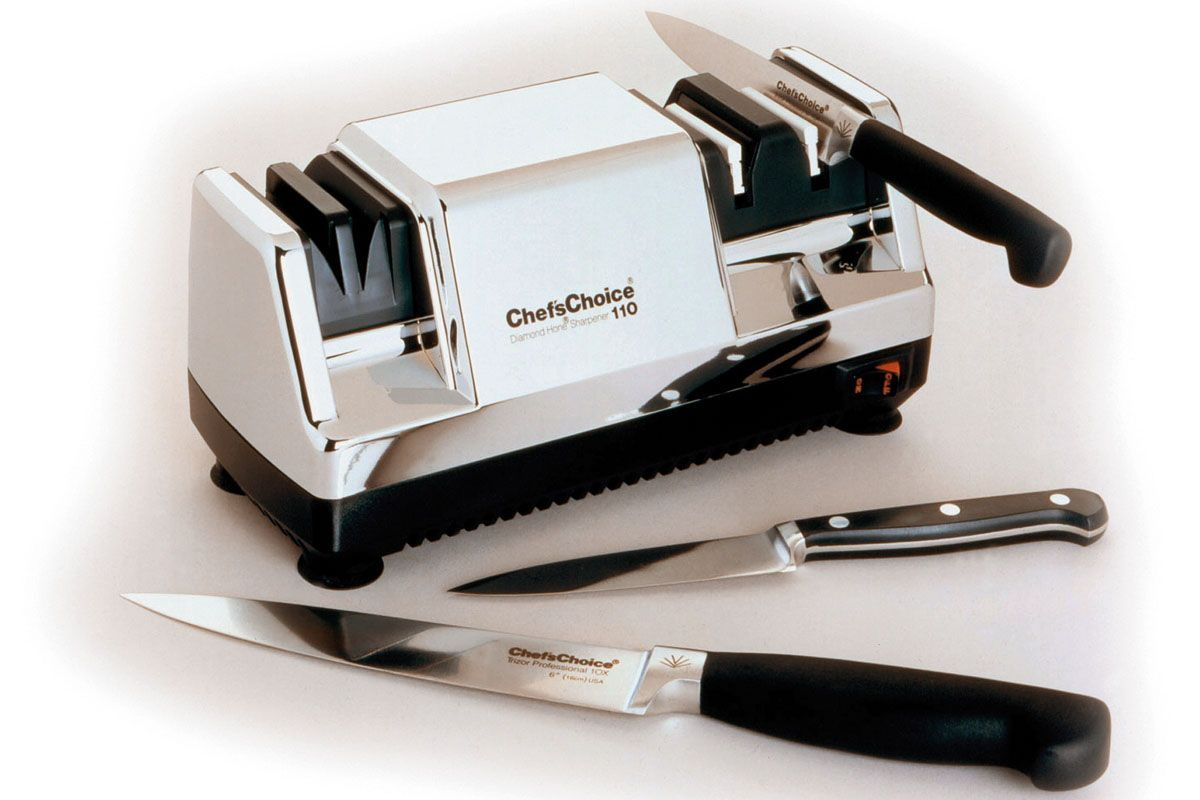 chef 39 s choice 110 knife sharpener nib bin ebay. Black Bedroom Furniture Sets. Home Design Ideas
