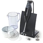 Bamix Swissline immersion blender with stand and accessories