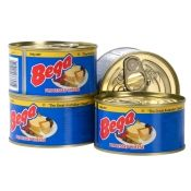 Bega canned cheddar cheese from Australia.
