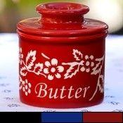 New Fleur De Provence Butter Bell Keeper Crock