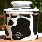 closed cowbell butter crock