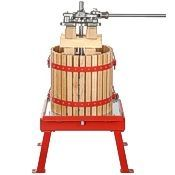 Country Estate presses, wood basket, 5 & 8 gallons