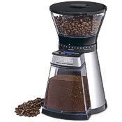 coffee bean grinder, with beans and grounds