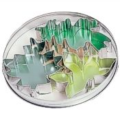 Leaf Cookie Cutters, 3-Piece Set