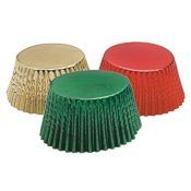 Christmas Foil Standard Baking Cups Set, 45 count