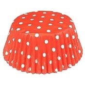 Red Polka Dot Standard Baking Cups, 50 count