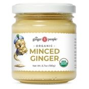 Minced ginger glass jar