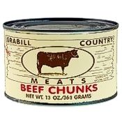 Grabill Beef Chunks 13 oz., Case of 12