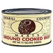 Grabill Ground Beef 13 oz., Case of 12