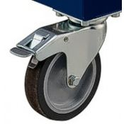 Wheel caster set for Haussler SP mixers