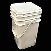 Food-Safe Square Bucket 5 Gallon w/Lid