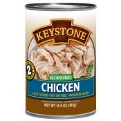 Keystone fully cooked canned chicken, case of 14.5 oz cans