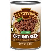 Keystone fully cooked ground beef, 14.5 oz can