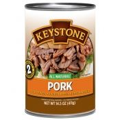 Keystone canned pork chunks with no water added. 14.5-ounce can.