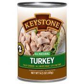 Case of twelve 14.5-oz cans of turkey chunks
