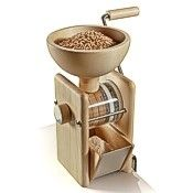 KoMo hand flour mill wheat grinder, wood