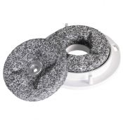 "Stone burr set, 3.35"" diameter"