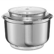 Stainless bowl with lid for the Universal Plus kitchen mixer.