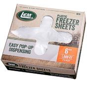 Plastic freezer sheets for meat patties