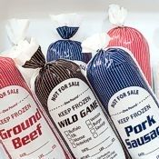Meat processing freezer bags