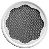 BPA-free mason jar lid with stainless steel mesh screen for sprouting.