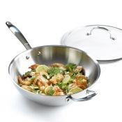 OXO Stainless Steel Wok w/Lid, 12 inch