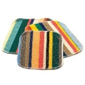 RSVP EcoScrubby Multi-Colored Striped Cleaning Cloth, Set of 3
