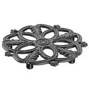 Cast iron trivet for hot pans