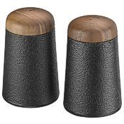 cast iron salt and pepper set, #0076