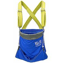 Fruit picking buckets & bags feature wide, padded shoulder straps and draw ropes for easy unloading!
