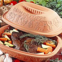 Cooking with steam in natural clay Römertopf vessels provides healthful, moist and tender results.