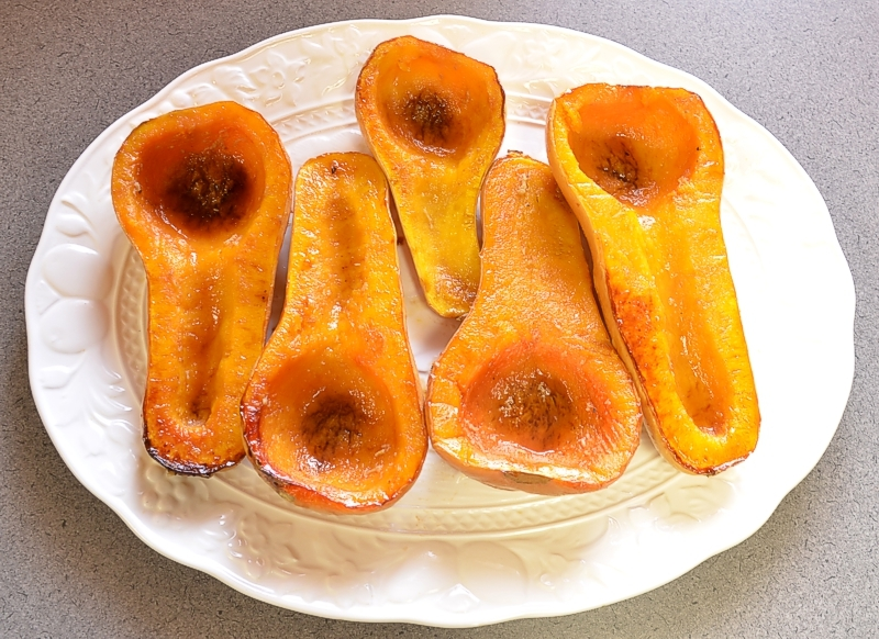 Roasted Winter Squash with Maple Glaze
