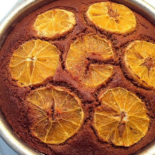 Whole Grain Orange Cranberry Cake