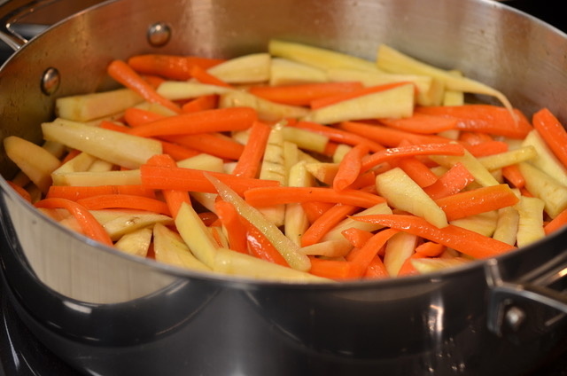 Maple Glazed Root Vegetables with Orange and Thyme