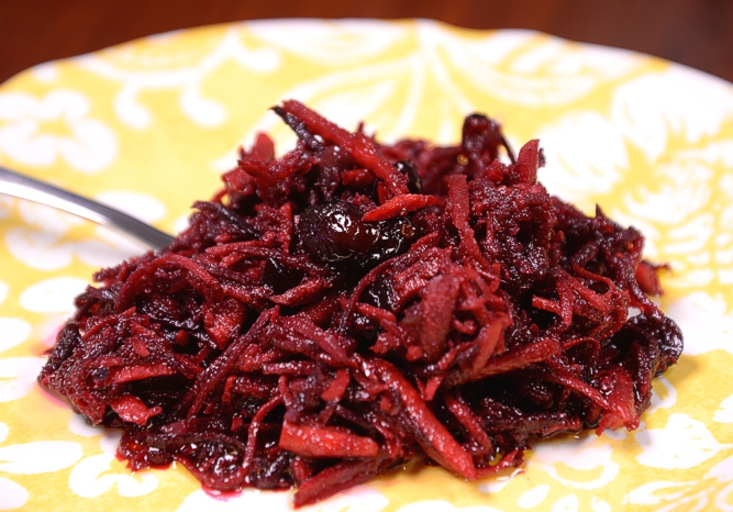Winter Carrot Salad with Cranberries
