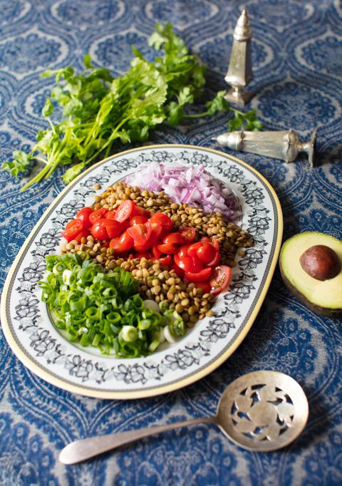 Lentil Salad with Avocado
