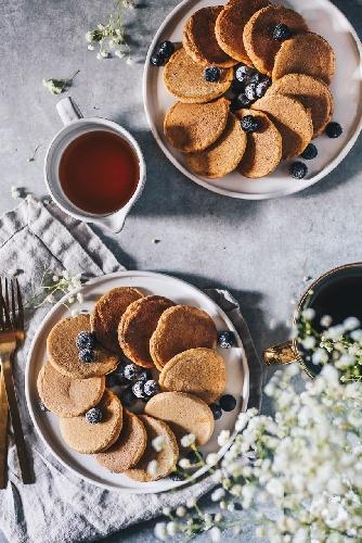 Fluffy Whole Wheat Mini Pancakes