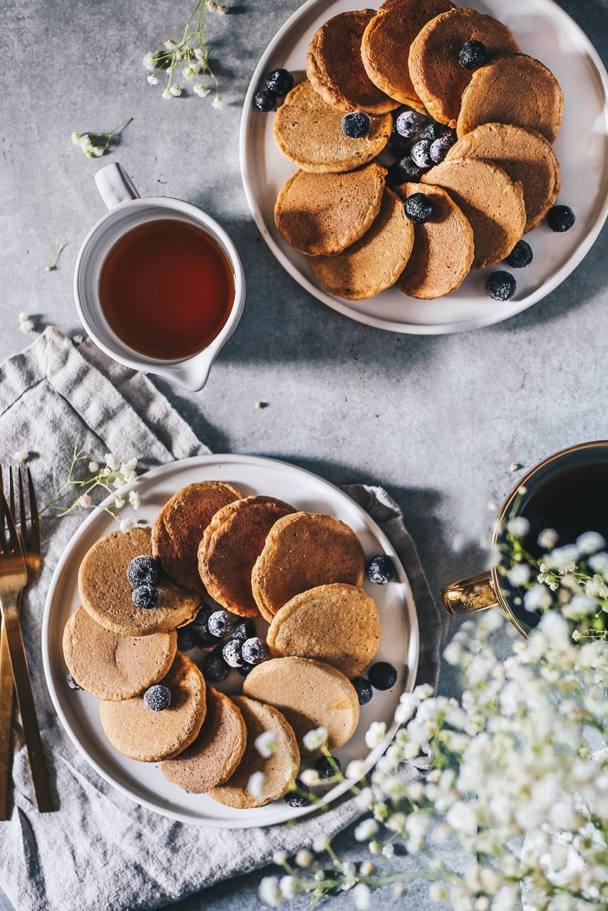Fluffy Whole Wheat Mini Pancakes