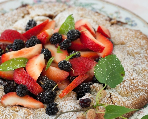 Galette with Summer Berries