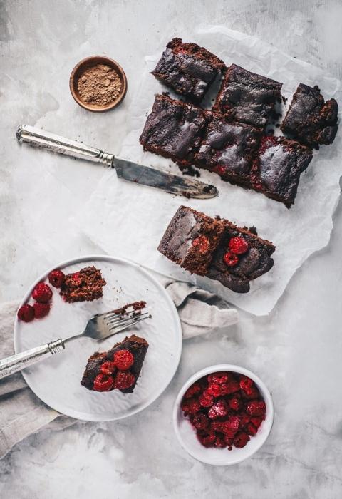Einkorn Raspberry Brownies