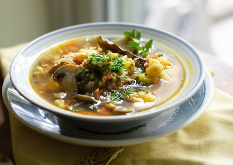 Buckwheat Soup with Cauliflower & Turmeric