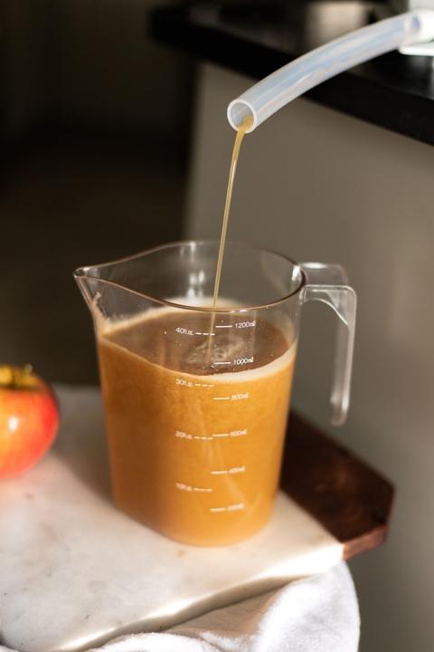 Homemade Freshly Pressed Apple Cider