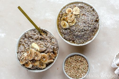 Chia & buckwheat breakfast porridge