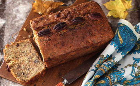 Sweet Zucchini Bread with Mint