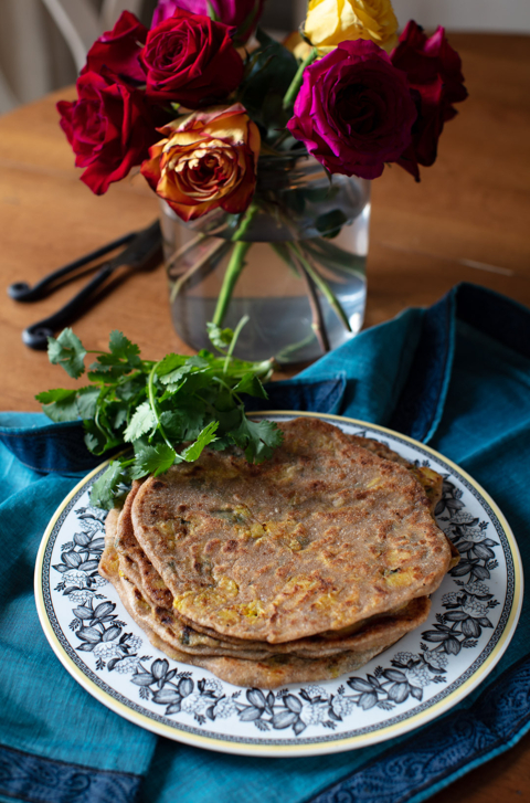 Stuffed Paratha with Vegetables and Spices
