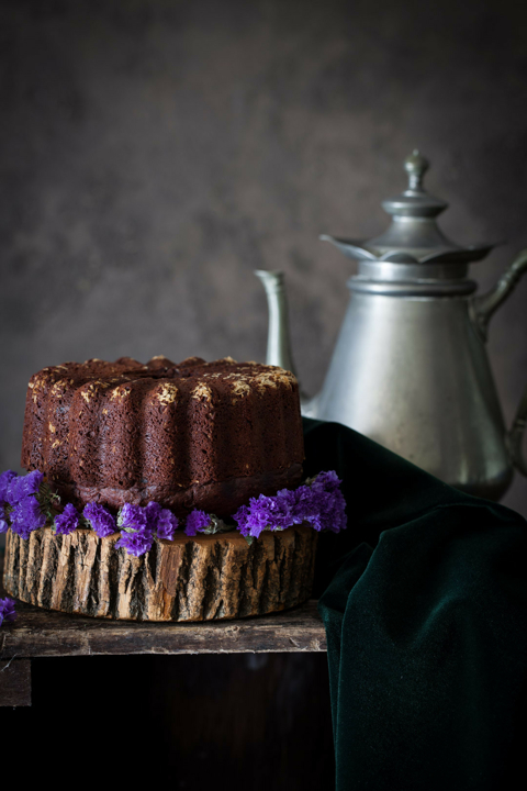 Orange-Chocolate Cake with Beets, Honey, Chia Seeds & Spelt Flour