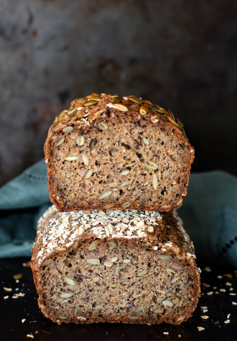Rye Bread with Rye Berries & Seeds
