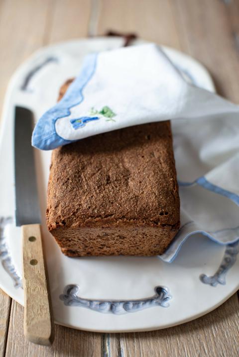 Rye Sourdough Bread with Raisins
