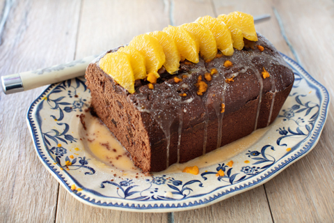 Chocolate Cake with Dried Figs and Orange Liqueur