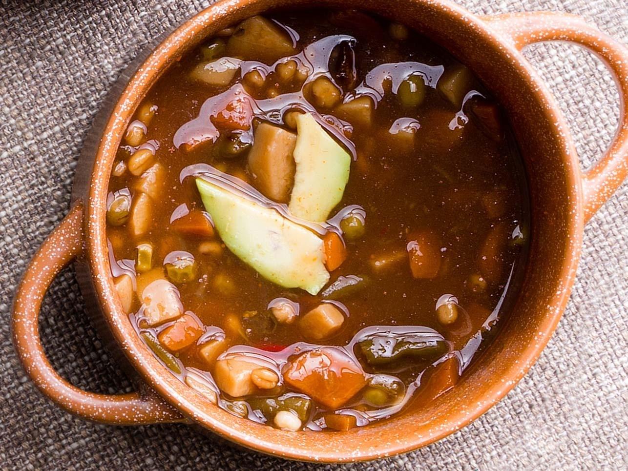Hearty Pork & Pinto Bean Soup